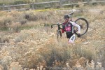 Josh Whitney flatted and trotted through rabbit brush in Golden