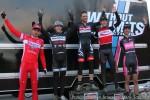 Men's open podium for Cyclo-X Louisville (l-r) Robin Eckmann 4th, Bryan Alders 3rd, Danny Summerhill 1st, Tim Allen 2nd, Ken Benesh5th