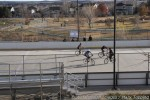 Bike polo underway at the Louisville, CO venue