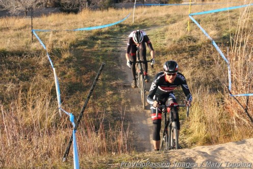 Danny Summerhill and Tim Allen driving for first at Cyclo-X Louisville