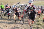 Junior W. Grant Ellwood (right) started fast and rode strong in Louisville,CO