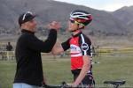 Teammates Michael Schaub and Tim Allencelebrate
