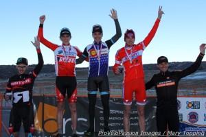 Elite men's 2013 Colorado state cyclocross podium