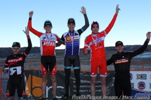 Elite men's 2013 Colorado state cyclocross podium