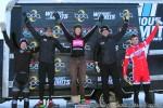 Cyclo-X final race Boulder Reservoir men's elite podium (l – r) Steve Stefko 4th, Chris Case 2nd, Spencer Powlison 1st, Pete Webber 3rd, Robin Eckmann5th