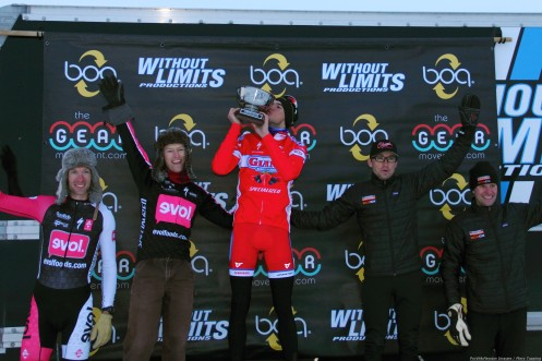 2013 Cyclo-X / Chesaux Cup final standings (l - r) Ken Benesh 4th, Spencer Powlison 2nd, Robin Eckmann 1st, Chris Case 3rd, Pete Webber 5th