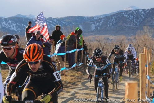 Allen Krughoff slotted in behind Ryan Trebon and Danny Summerhill after the start