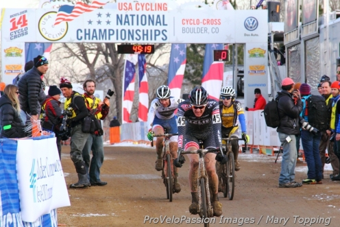 Brady Kappius holds onto second at the single speed national championship finish