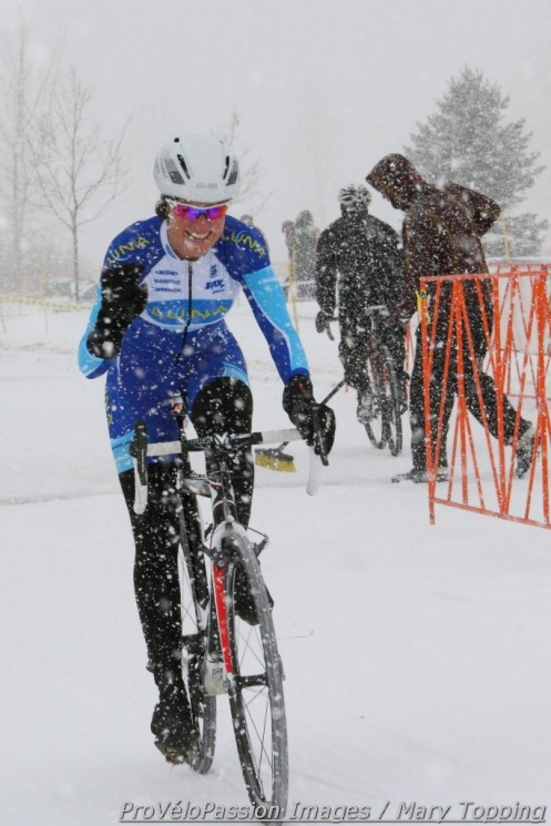 Georgia Gould wins day one of Altitude Adjustment Cross in heavy snow