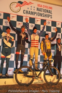 Men's 2014 national championship single speed podium