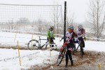 Katie Clouse, Laurel Rathbun, and Kristal Boni negotiate the Longmont sandpit