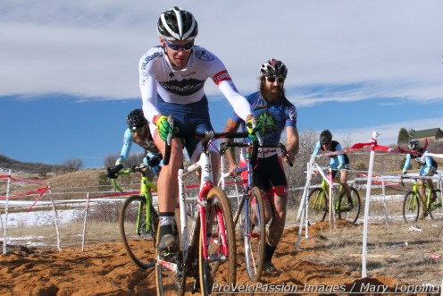 Will Iaia in Colorado state championship sand, Nic Handy (right) and Jesse Swift (left)
