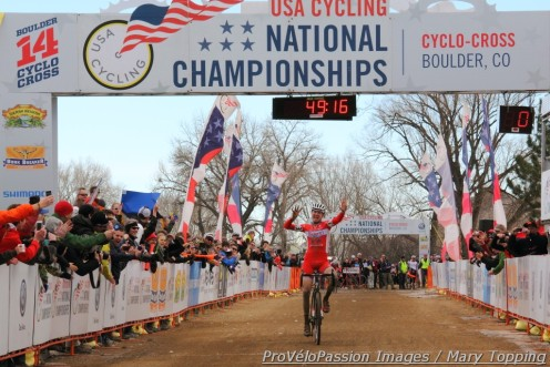 Logan Owen won his ninth consecutive cyclocross national championship when he finished first in the 2014 U23 race
