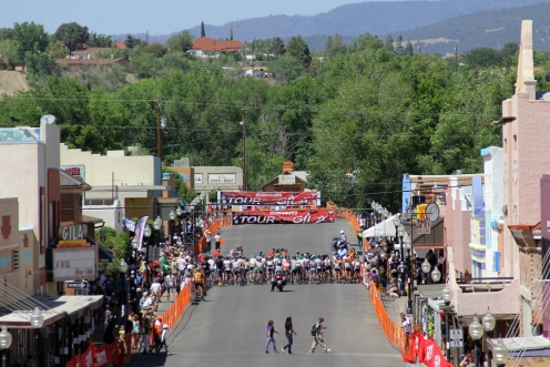 Women's start at 2012 Tour of the Gila criterium stage in Silver City