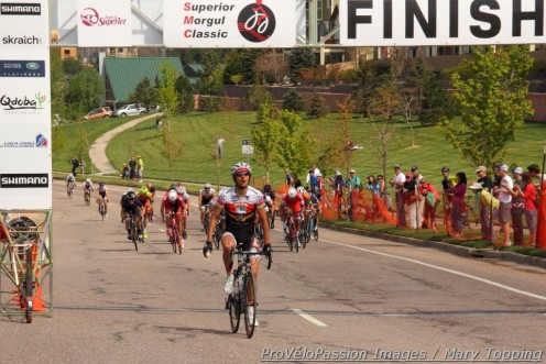 Emerson Oronte wins the pro-1-2 men's race in the Superior Morgul Classic criterium
