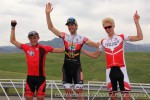 Superior Morgul Classic, Morgul-Bismark road race podium (l-r): Gage Hecht 3rd, Chris Winn 1st, Keegan Swirbul 2nd