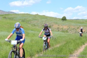 Stetson-Lee & Amy Beisel hunt Compton's wheel in the flats, while Megan Carrington fights to catch them