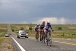 Storms held off until the final fourfinished