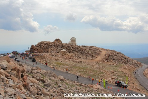 Bob Cook Memorial Mt. Evans Hill Climb finish at over 14,000 feet elevation