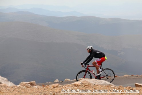 Robin Eckmann begins his descent from the top of Mt. Evans