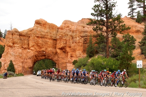 Peloton in Red Canyon