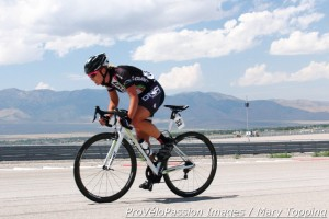Breanne Nalder off the front
