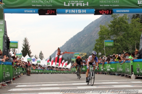 Lucas Euser 8th at Snowbird after the entire Stage 6 in a breakaway