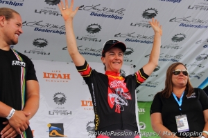 Olivia Dillon won the sprint competition within the Cedar City Grand Prix