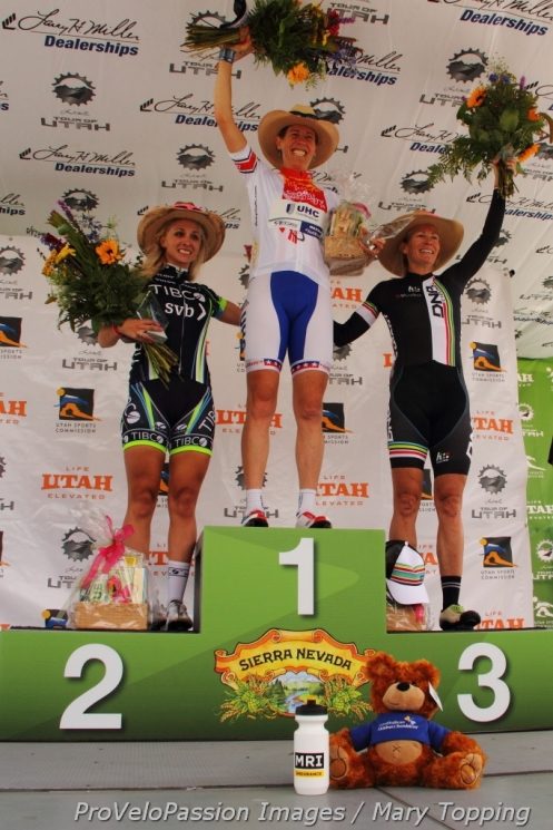 2014 Cedar City Grand Prix podium (l-r) Samantha Schneider, Alison Powers, Tina Pic