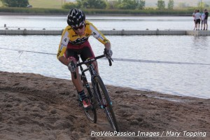Allen Krughoff smooth in the sand at Boulder Reservoir