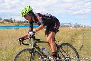 Caitlyn Vestal racing the third at KickIt Cross