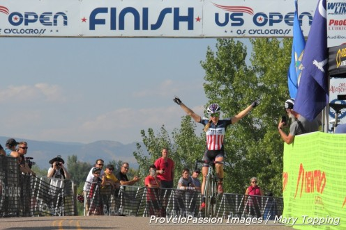Katie Compton wins the Boulder UCI race at the reservoir, now named the US Open of Cyclocross, for the second year in a row