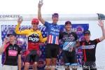 Men's elite podium (l-r): Spencer Powlison 5th, Allen Krughoff 2nd, Jeremy Powers 1st, Ben Berden 3rd, Tim Allen4th