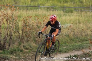 Rebecca Blatt raced the women's A and the men's A races at Back to Basics 1
