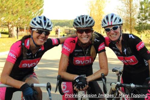 Triumphant trio (l-r): Jess Case, Kristen Legan, and Melissa Barker