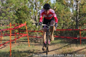 Taylor Carrington in the only trees on this year's Cross of the North course