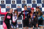 2014 Cross of the North day 2 women's elite podium (l to r): Melissa Barker 4th, Katie Clouse 2nd, Caitlyn Vestal 1st, Amanda Miller 3rd, Laurel Rathbun5th