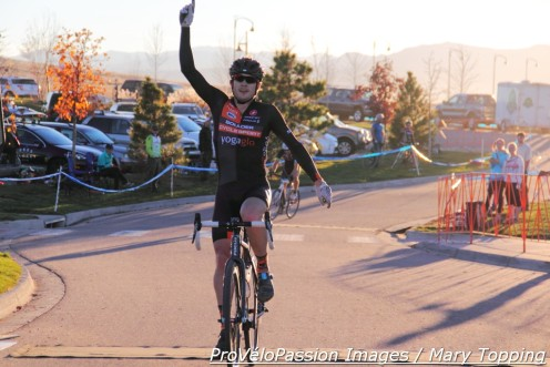 Chris Baddick wins Sienna Lake on an unusually warm day for early November in Colorado
