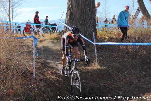 Kristin Weber got her first win of this season at Cyclo-X Sienna Lake in Broomfield, Colorado