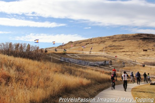 The long run-up on Rhyolite Park course pitches up more at the top