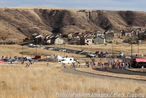 Men's 55 plus field starts at the 2014 Colorado state cyclocross championships