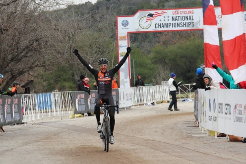 Brandon Dwight wins men's 40 - 44 national cyclocross championship