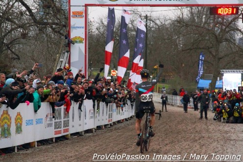 Jeremy Powers wins his third US cyclocross title. Jonathan Page finished second and kept Powers on his toes.