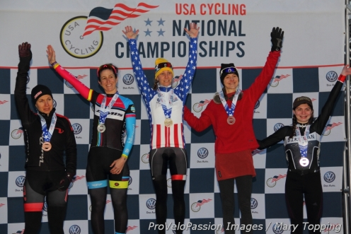 Women's 2015 singlespeed US cyclocross championships top five