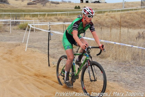 Ashley Zoerner on her way to another state cyclocross championship in 2014