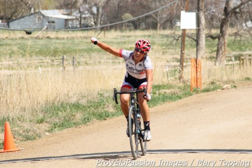 Lucy Conklin won Boulder-Roubaix with a 12 second cushion