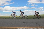 Abby Mickey and Jennifer Sharp rip past a rider from anothercategory