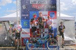 Men's race podium bubbly