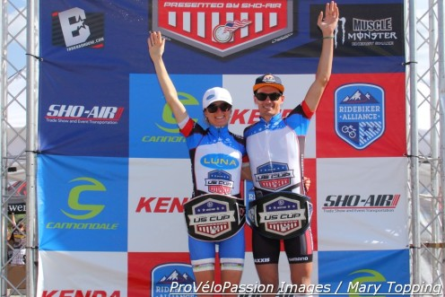 2015 Pro XCT Series winners, Catharine Pendrel and Raphael Gagne
