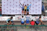 Women's individual pursuit podium